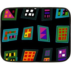 Abstract A Colorful Modern Illustration Fleece Blanket (mini) by Simbadda