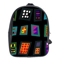 Abstract A Colorful Modern Illustration School Bags(large)  by Simbadda