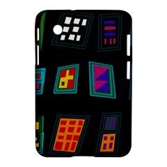 Abstract A Colorful Modern Illustration Samsung Galaxy Tab 2 (7 ) P3100 Hardshell Case  by Simbadda