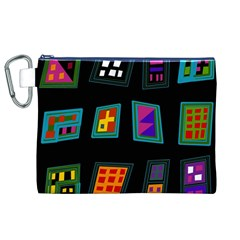 Abstract A Colorful Modern Illustration Canvas Cosmetic Bag (xl) by Simbadda