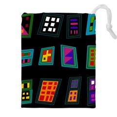 Abstract A Colorful Modern Illustration Drawstring Pouches (xxl) by Simbadda
