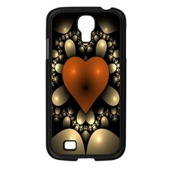 Fractal Of A Red Heart Surrounded By Beige Ball Samsung Galaxy S4 I9500/ I9505 Case (black) by Simbadda
