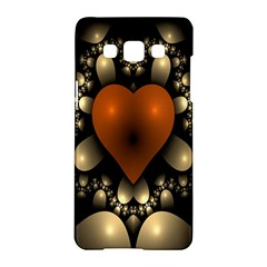 Fractal Of A Red Heart Surrounded By Beige Ball Samsung Galaxy A5 Hardshell Case  by Simbadda