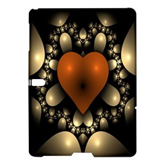 Fractal Of A Red Heart Surrounded By Beige Ball Samsung Galaxy Tab S (10 5 ) Hardshell Case  by Simbadda