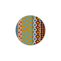 Abstract A Colorful Modern Illustration Golf Ball Marker by Simbadda