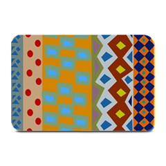 Abstract A Colorful Modern Illustration Plate Mats by Simbadda