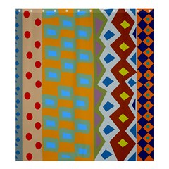 Abstract A Colorful Modern Illustration Shower Curtain 66  X 72  (large)  by Simbadda