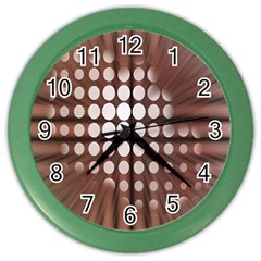 Technical Background With Circles And A Burst Of Color Color Wall Clocks by Simbadda