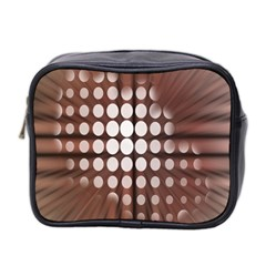 Technical Background With Circles And A Burst Of Color Mini Toiletries Bag 2 Side by Simbadda