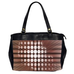 Technical Background With Circles And A Burst Of Color Office Handbags (2 Sides)  by Simbadda