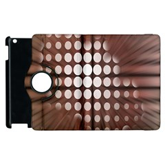 Technical Background With Circles And A Burst Of Color Apple Ipad 2 Flip 360 Case by Simbadda