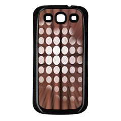 Technical Background With Circles And A Burst Of Color Samsung Galaxy S3 Back Case (black)