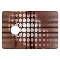 Technical Background With Circles And A Burst Of Color Kindle Fire HDX Flip 360 Case by Simbadda