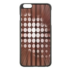 Technical Background With Circles And A Burst Of Color Apple Iphone 6 Plus/6s Plus Black Enamel Case by Simbadda