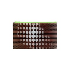 Technical Background With Circles And A Burst Of Color Cosmetic Bag (xs) by Simbadda