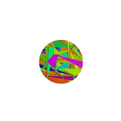 Background With Colorful Triangles 1  Mini Magnets by Simbadda