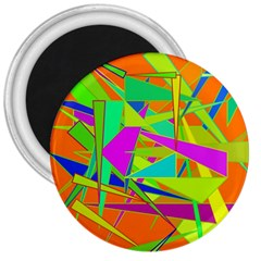 Background With Colorful Triangles 3  Magnets by Simbadda