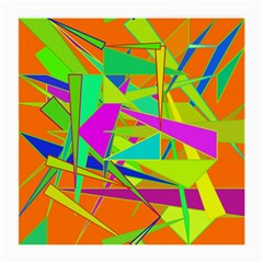 Background With Colorful Triangles Medium Glasses Cloth (2 Side) by Simbadda