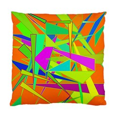 Background With Colorful Triangles Standard Cushion Case (two Sides) by Simbadda