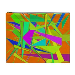 Background With Colorful Triangles Cosmetic Bag (xl)