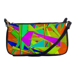 Background With Colorful Triangles Shoulder Clutch Bags by Simbadda