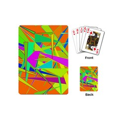 Background With Colorful Triangles Playing Cards (mini)  by Simbadda