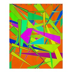 Background With Colorful Triangles Shower Curtain 60  X 72  (medium)  by Simbadda