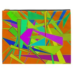 Background With Colorful Triangles Cosmetic Bag (xxxl)  by Simbadda