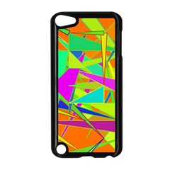 Background With Colorful Triangles Apple Ipod Touch 5 Case (black) by Simbadda