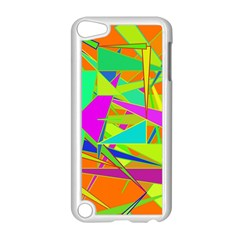 Background With Colorful Triangles Apple Ipod Touch 5 Case (white) by Simbadda