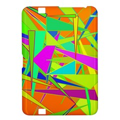 Background With Colorful Triangles Kindle Fire Hd 8 9  by Simbadda