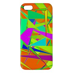 Background With Colorful Triangles iPhone 5S/ SE Premium Hardshell Case