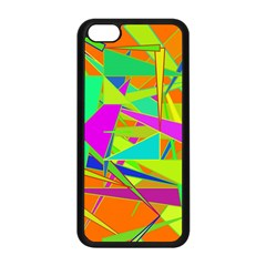 Background With Colorful Triangles Apple Iphone 5c Seamless Case (black) by Simbadda