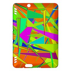 Background With Colorful Triangles Kindle Fire Hdx Hardshell Case by Simbadda