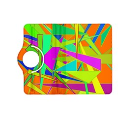 Background With Colorful Triangles Kindle Fire Hd (2013) Flip 360 Case by Simbadda