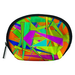Background With Colorful Triangles Accessory Pouches (medium)  by Simbadda