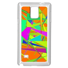 Background With Colorful Triangles Samsung Galaxy Note 4 Case (white) by Simbadda