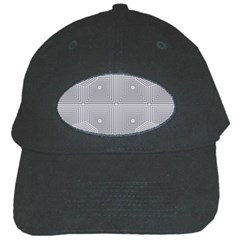 Grid Squares And Rectangles Mirror Images Colors Black Cap by Simbadda
