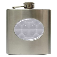Grid Squares And Rectangles Mirror Images Colors Hip Flask (6 Oz) by Simbadda