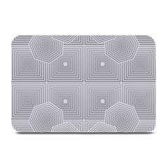 Grid Squares And Rectangles Mirror Images Colors Plate Mats by Simbadda