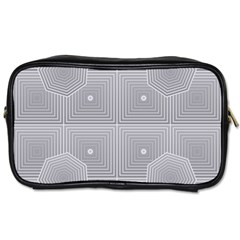Grid Squares And Rectangles Mirror Images Colors Toiletries Bags 2 Side by Simbadda