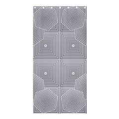 Grid Squares And Rectangles Mirror Images Colors Shower Curtain 36  X 72  (stall)  by Simbadda