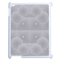 Grid Squares And Rectangles Mirror Images Colors Apple Ipad 2 Case (white) by Simbadda