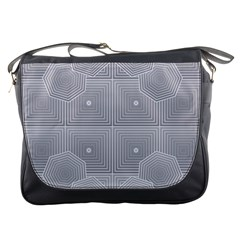 Grid Squares And Rectangles Mirror Images Colors Messenger Bags by Simbadda