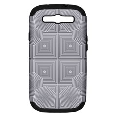 Grid Squares And Rectangles Mirror Images Colors Samsung Galaxy S Iii Hardshell Case (pc+silicone) by Simbadda