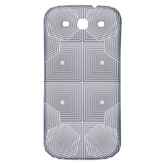 Grid Squares And Rectangles Mirror Images Colors Samsung Galaxy S3 S Iii Classic Hardshell Back Case by Simbadda