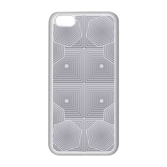 Grid Squares And Rectangles Mirror Images Colors Apple Iphone 5c Seamless Case (white) by Simbadda