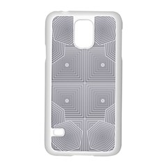 Grid Squares And Rectangles Mirror Images Colors Samsung Galaxy S5 Case (white) by Simbadda
