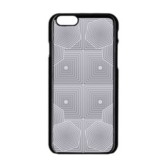 Grid Squares And Rectangles Mirror Images Colors Apple Iphone 6/6s Black Enamel Case by Simbadda
