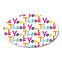 Wallpaper With The Words Thank You In Colorful Letters Oval Magnet by Simbadda